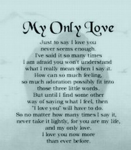 My One And Only Love Quotes My One And Only Love Quotes Prepossessing My  One And