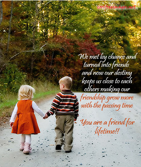 we met by chance and turned into friends and now our destiny keeps us ...