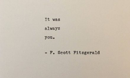 F. Scott Fitzgerald quote typed on typewriter – unique gift