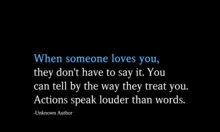 When someone loves you, they don't have to say it