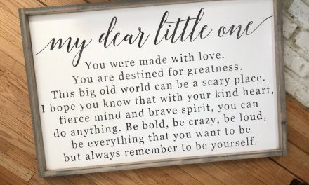 My Dear Little One | #Signs4Infertility | Modern Style Wood Sign