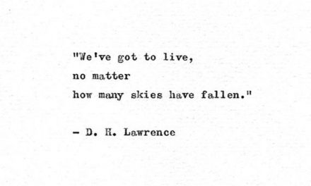 D H Lawrence Typewriter Quote Print 'We've got to live', Letterpress Book Quote, Lady Chatterley Print