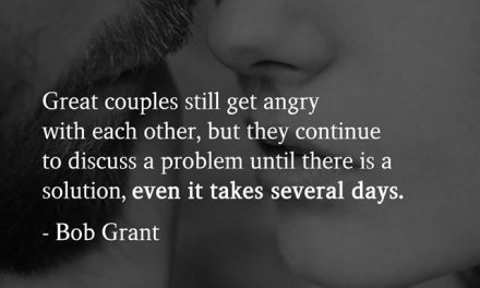 Great couples still get angry with each other, but they continue to discuss a problem until