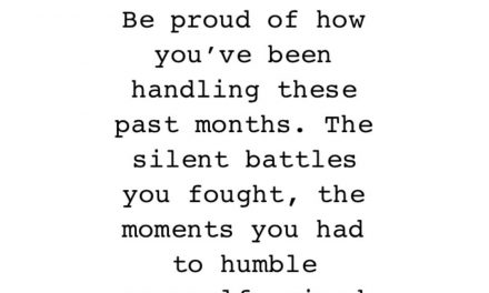 Be proud, you strong woman.